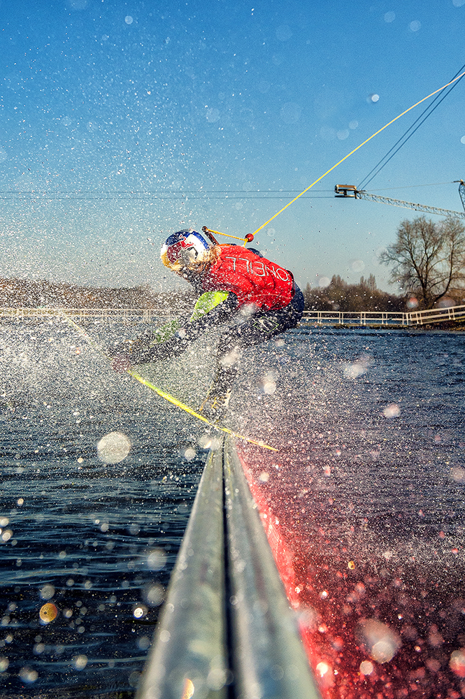 Interfit S1 Image of Wakeboarder using High Speed Sync HSS